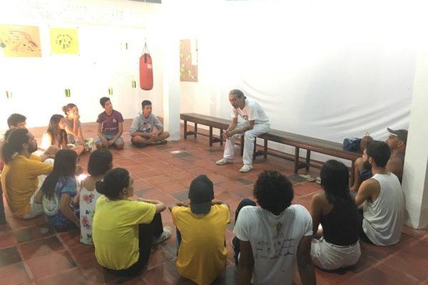 Roda de capoeira no GCANG. Créditos: Acervo CAJU 2019
