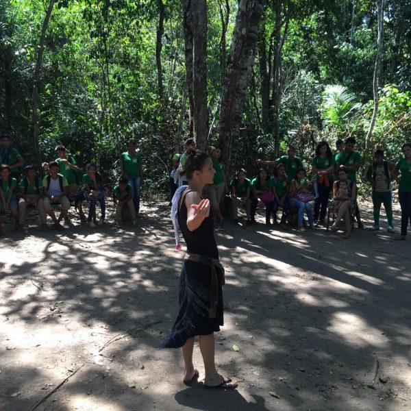 Intervenção de teatro na escola do campoCréditos: Acervo CAJU 2019