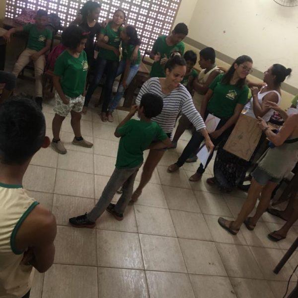 Intervenção da Brigada de Alter como prevenção com os adolescentes da escola do campo.Créditos: Acervo CAJU 2019